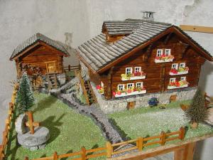 Modellino di casa walser