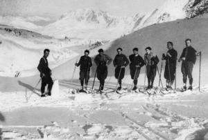 La squadra di fondo formazzina in allenamento al passo S. Giacomo