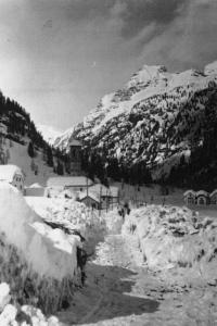 Frazione Chiesa dopo la nevicata del 1951