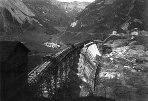 Costruzione della diga di Morasco