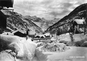 Ponte sotto la neve vista da nord