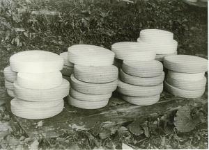 Forme di formaggio prodotte all'alpe Campo